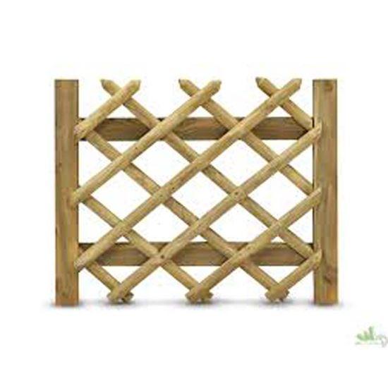 Cancello incrociato promo 80x100 cm giardino ottimax for Obi arredamento giardino