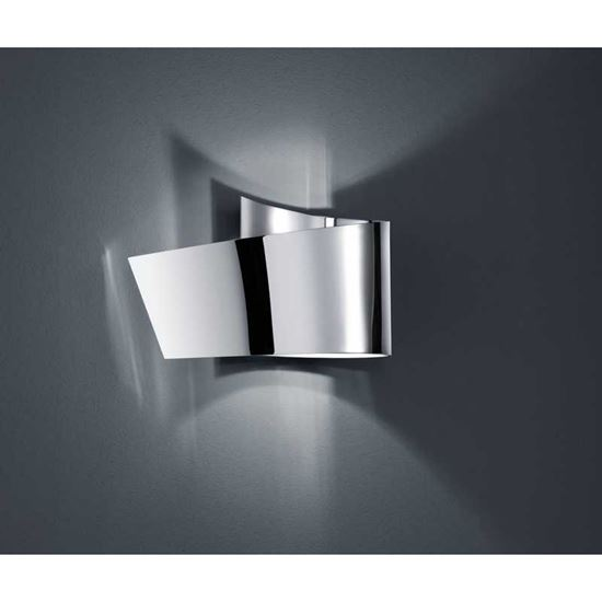 Applique led virgola 20 cm altezza 12 cm 2 3 w cromo - Altezza applique ...