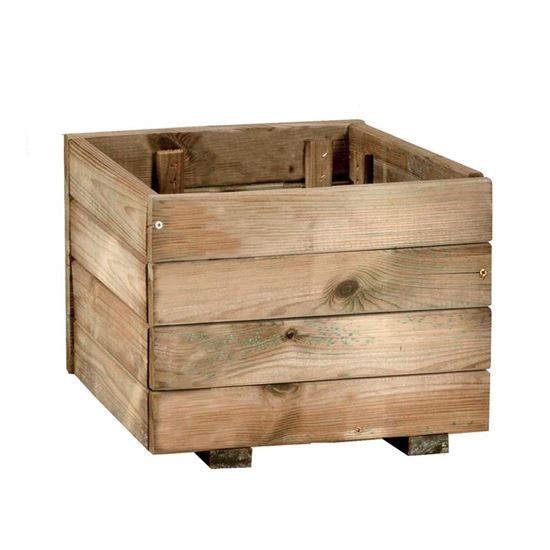 Fioriera Rustica, legno di conifera impregnato in autoclave, 40x40 ...