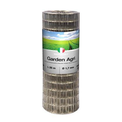 Immagine di Rete zincata, prima della saldatura, per recinzioni di terreni, maglia 76,2x50,8 mm, rotolo 25 mt, h 153 cm