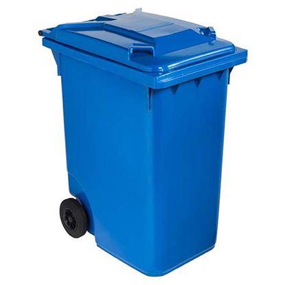 Immagine di Contenitore in plastica Contivia 2, 2 ruote 360 lt, blu