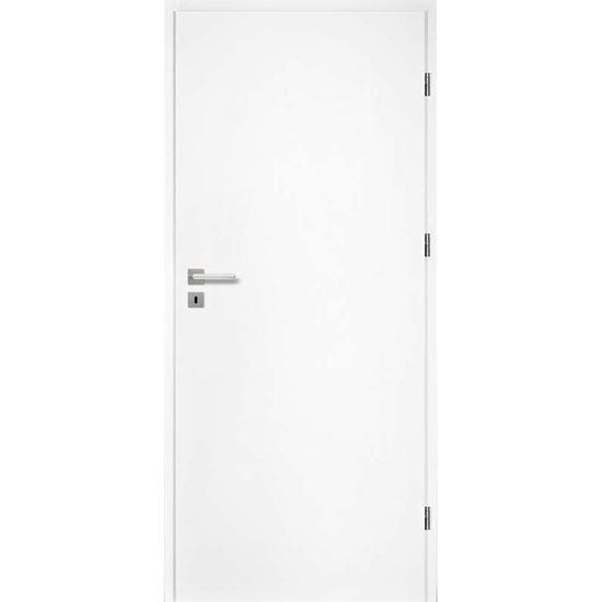 Immagine di Porta da interno reversibile, colore bianco, telaio 10 cm, 80x210 cm
