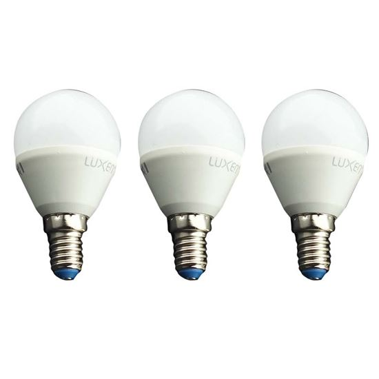 Immagine di Set 3 lampade  Led sferetta, E14, 5,5W, luce calda