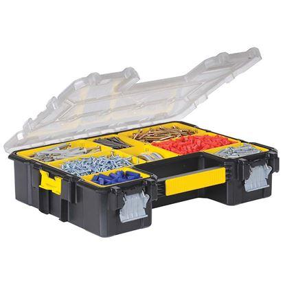 Immagine di Organizer Fatmax, con coperchio in policarbonato trasparente, guarnizione anti umidità, 44,6x11,6x35,7 cm