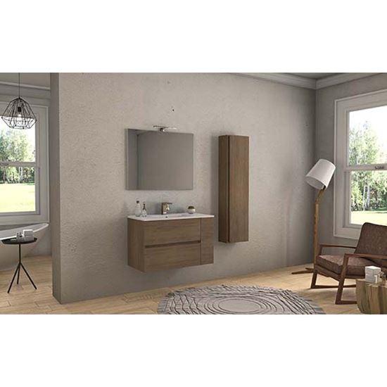 Mobile bagno Giada 90 cm, 2 cassetti, 1 anta, rovere, SANITARI - Ottimax