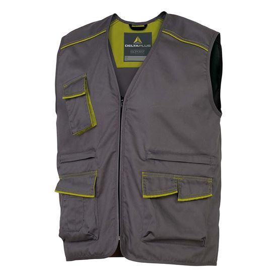Immagine di Gilet multitasca con chiusura a zip, cotone/poliestere, colore grigio, taglia M