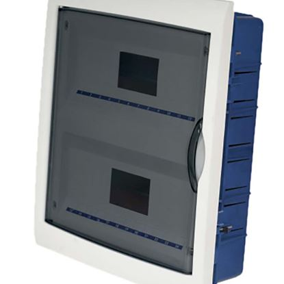 Immagine di Centralino Incasso sportello trasparente, IP40, 24 moduli