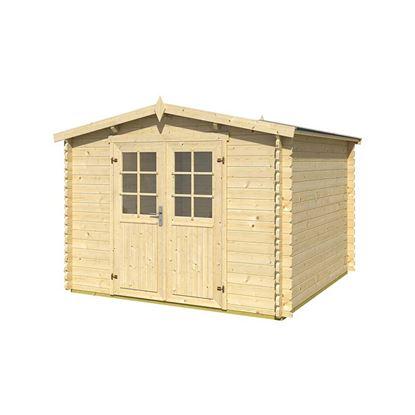 Immagine di Casetta in legno Alba 300x300xh 330 cm, a perline ad incastro, spessore 34 mm,