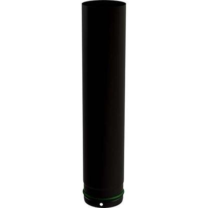 Immagine di Tubo smaltato per stufa a pellet, Ø 80 mm, colore nero, 50 cm