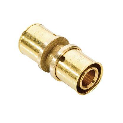 Immagine di Raccordo a pressare fit, diritto doppio, Ø26x26, gas