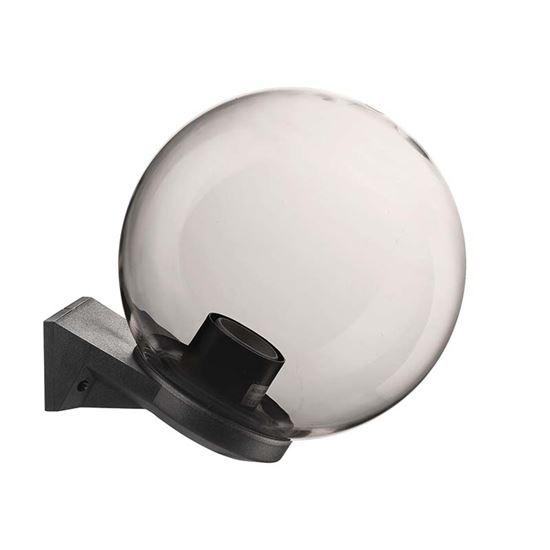 Immagine di Appliquea sfera Ø250 mm, base in plastica nera, fumè