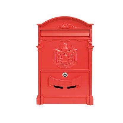 Immagine di Cassetta posta rosso          allum.c/serratura e cilindro