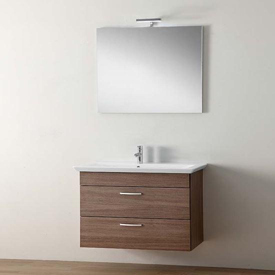 ... con 2 cassetti, colore rovere grigio, 79x37xh60 cm, SANITARI - Ottimax