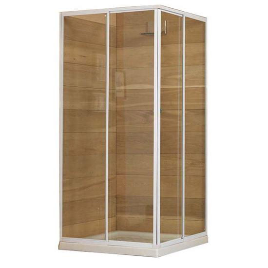 ... Erice, estensibile, trasparente, 70x80xh185 cm, SANITARI - Ottimax