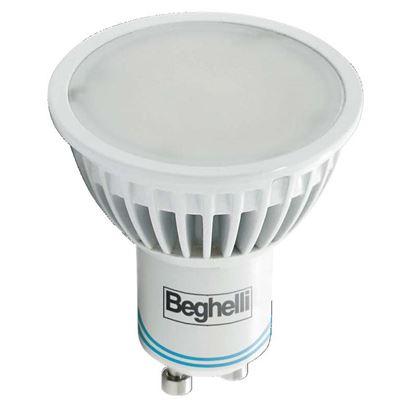 Immagine di Lampada emergenza a LED BEGHELLI, GU10, 4W, 230V, 2 ore di autonomia, 2700°K, luce calda