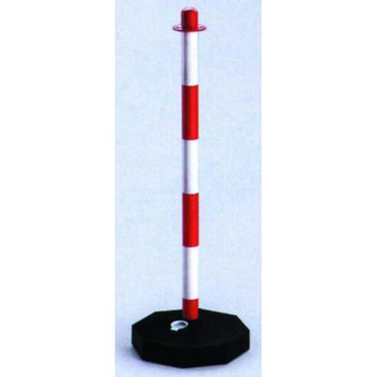 Immagine di Colonna per delimitazione, in plastica, bianco/rosso, H 90 cm