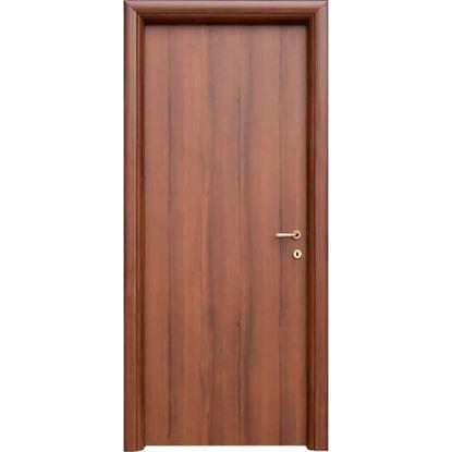 Immagine di Porta mara noce nazionale, telaio piatto, reversibile, accessori ottone lucido verniciato, 88x214 cm